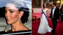 Kate dazzles in diamonds as she attends Queen's State Banquet