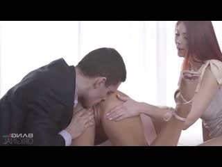 Victoria Pure, Kattie Gold, Max Dior - Two sexy girlfriends passionately fuck with a young man on the bed
