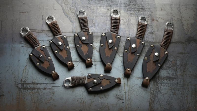 Шейный нож с характером.