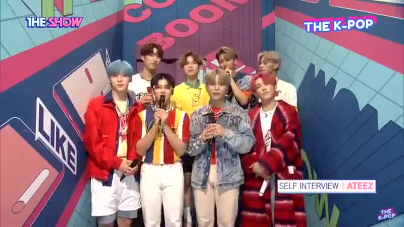 LOOK Self Interview with ATEEZ live on The Show. @ATEEZofficial