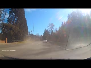 Car barely avoids head on collision by inches __ viralhog