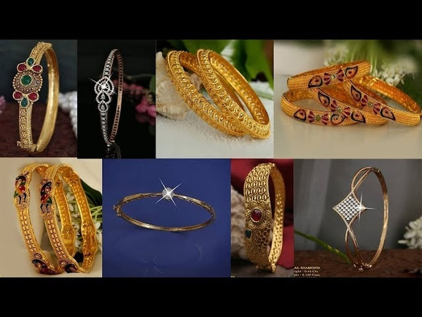 Latest gold banglesbracelets designs with weight | Today Fashion