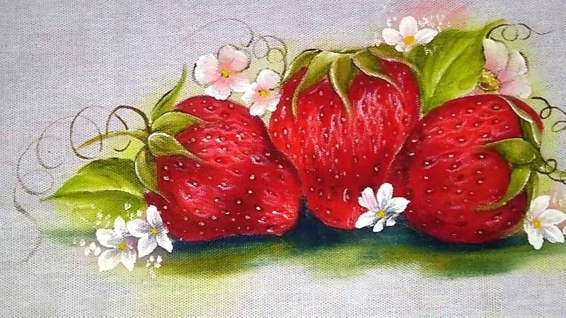 Pintura em tecido morangos dicas e truques