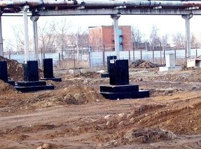 Строительство фундамента для промышленных зданий
