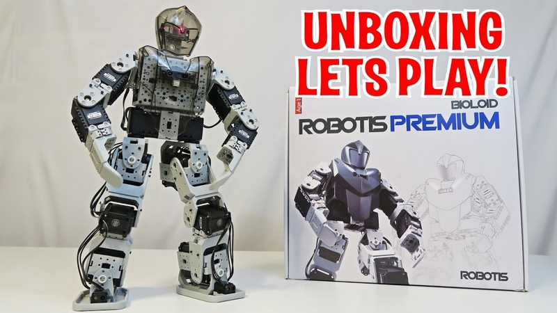 Unboxing Lets Play - BIOLOID Premium by ROBOTIS - Humanoid Fighting Robot (FULL REVIEW)
