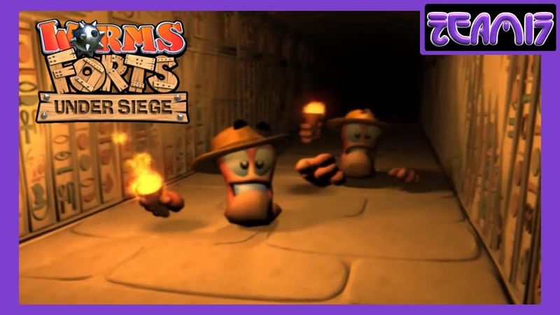 Worms Forts: Under Siege (2004) All Movies / Cutscenes (re-encoding in HD)