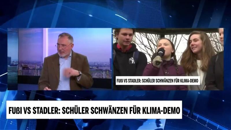 Ewald Stadler in Topform zu Greta Thunberg und den Schulschwänzern