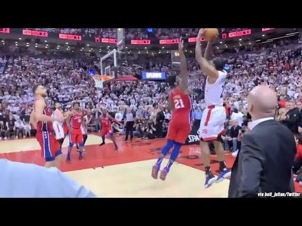 Must See Courtside Angle of Kawhi's Epic Game Winner!
