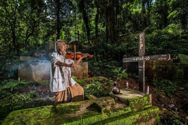 «Вместе навсегда» Вдовец играет на скрипке покинувшей этот мир жене. Фото: