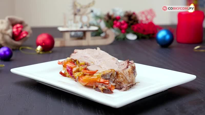 Как приготовить свинину с овощами в духовке