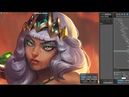 Qiyana Login Screen - League of Legends - Fanart Animation Process Timelapse