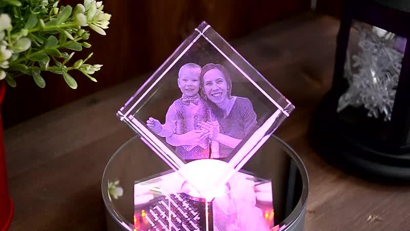 Фото в стекле Кубик