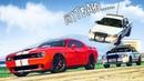 ПОГОНЯ ЗА ДИКИМ Dodge Challenger SRT Hellcat ПОЛИЦЕЙСКИЕ ПОГОНИ В ГТА 5 ОНЛАЙН