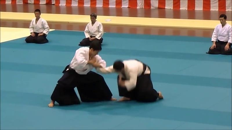 Toshio Suzuki Shidoin at the Tokyo Metropolitan Aikido Federation Demonstration 2017