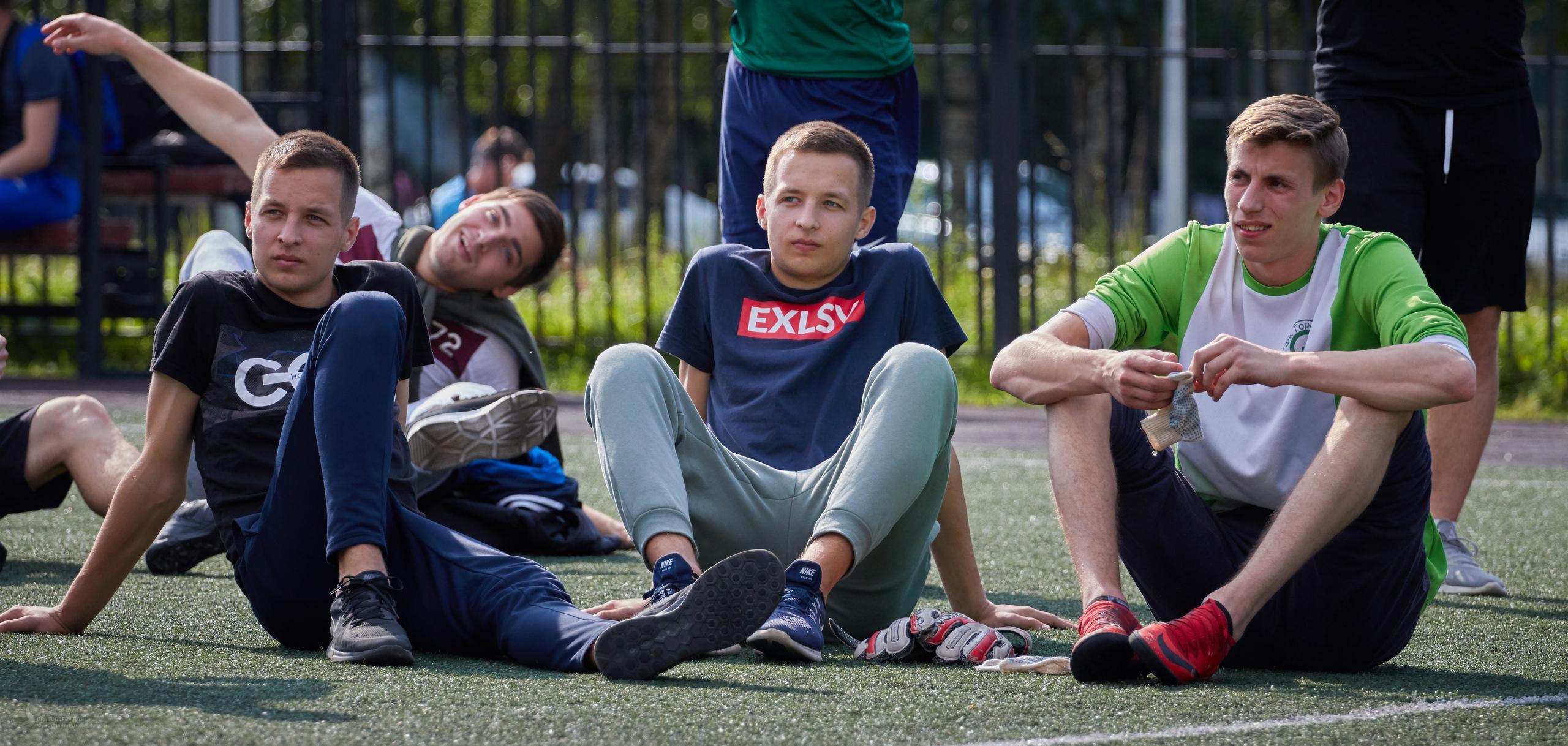 Максим Бугасанов, Павел Бугасанов и Андрей Сошников на турнире пенальтистов 6x6.