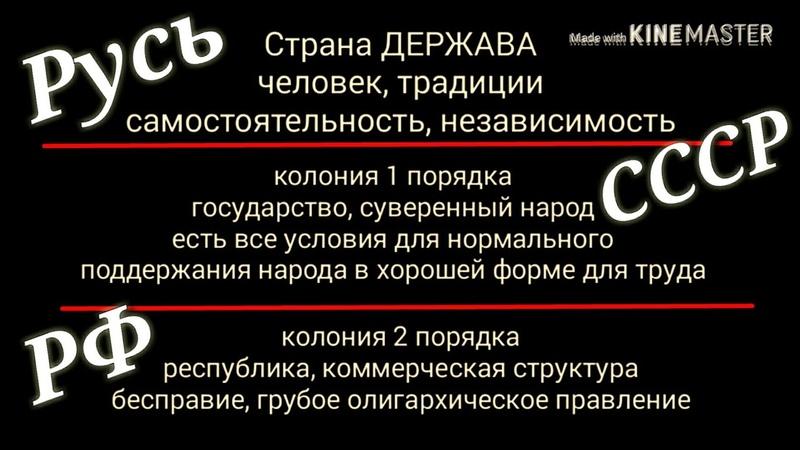 Власть РФ как оно есть. Колония. ConservA мывместе