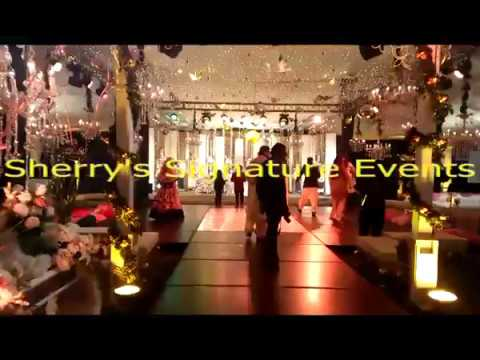 Wedding Banquet Hall Decorations picture ideas for stage and settee back by Sherry's Signature
