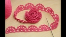 Безотрывное вязание - кайма для ирландского кружева ЛЕНТОЧНОЕ КРУЖЕВО Crochet ribbon lace