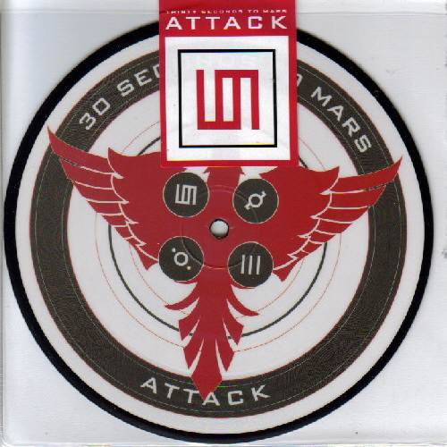 30 Seconds To Mars - Attack (Vinyl, 7 Limited Edition Picture Disc)