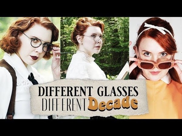 Different Glasses, Different Decade! || Vintage Glasses LookbookHaul
