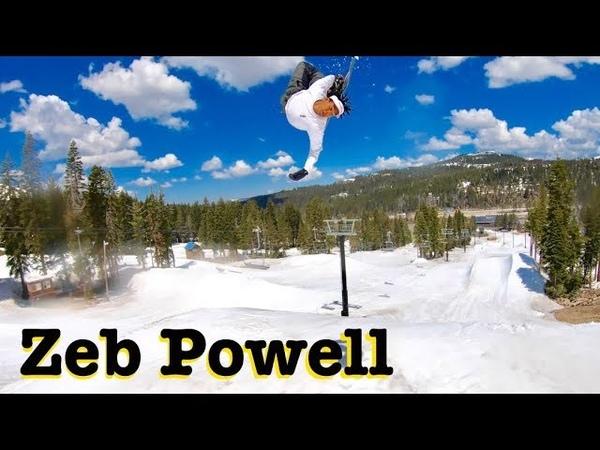 SNOWBOARDING with ZEB POWELL THROWING DOWN || WOODWARD TAHOE 2019 SHREDBOTS WEEK