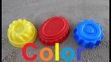 Learn Colors for Children Sand Molds cakeучим цвета в песочнице