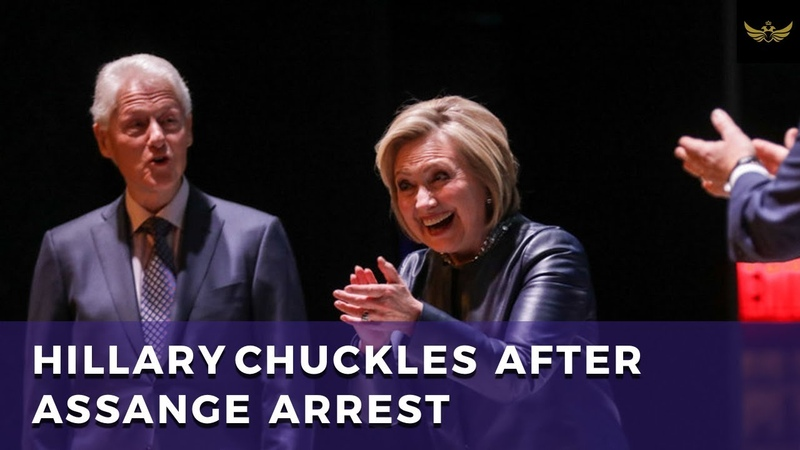 Hillary Clinton mocks Assange and Trump chuckles at arrest