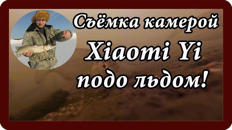 Поймали пару ЩУК Съёмка экшн камерой Xiaomy Yi подо льдом Рыбачим
