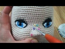 Amigurumi Bebek Ağız Burun Kaş Saç Yapılışı