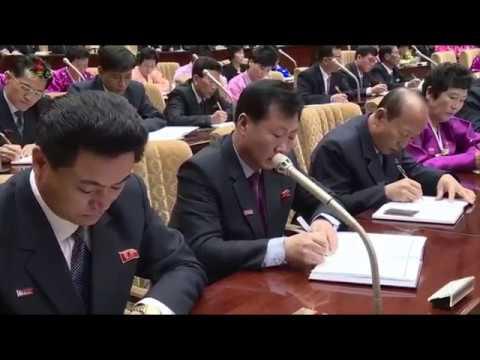 Choson TV 조선민주주의인민공화국 최고인민회의 제14기 제1차회의 2일회의 진행 KOREAN