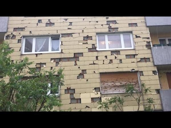 Градовый шторм в Мюнхене, Германия | A hail storm in Munich, Germany