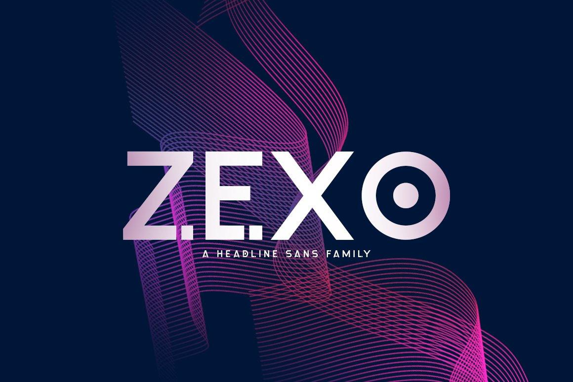 Шрифт - Zexo