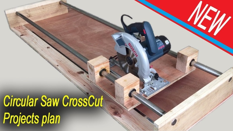 NEW Circular Saw Crosscut Jig Project Plan Smart Techniques Woodworking