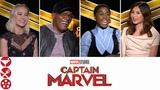 CAPTAIN MARVEL (2019) Interview with Brie Larson, Samuel L Jackson &amp the Cast