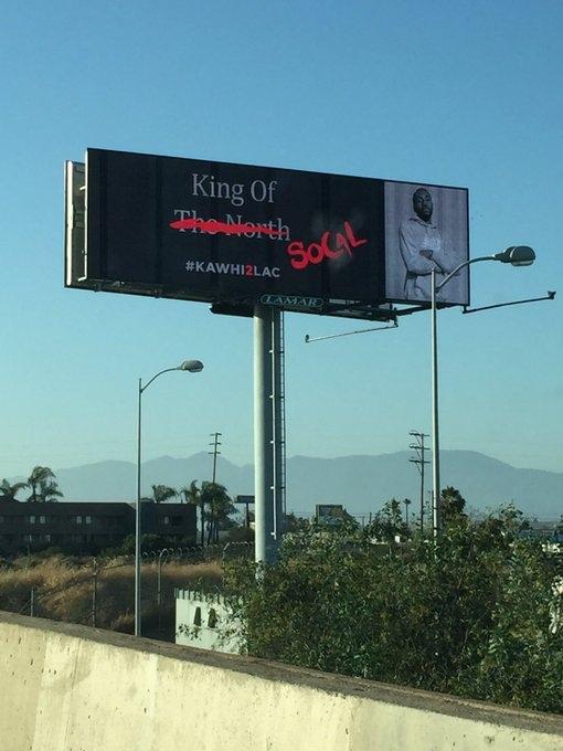 В Лос-Анджелесе появились билборды, призывающие Кавая Ленарда перейти в «Клипперс»