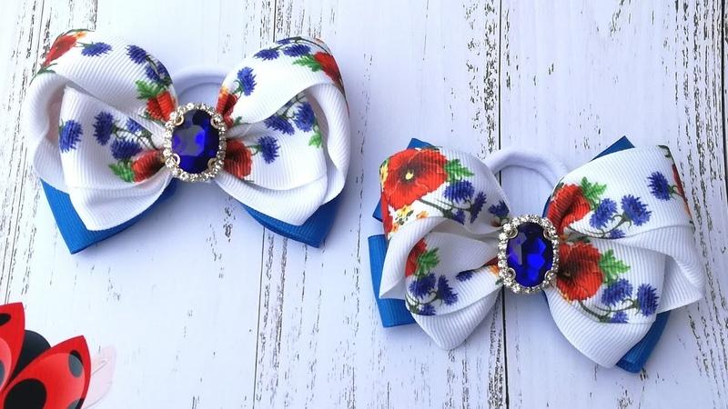 Бантики для вышиванки , мк/Bows for embroidery
