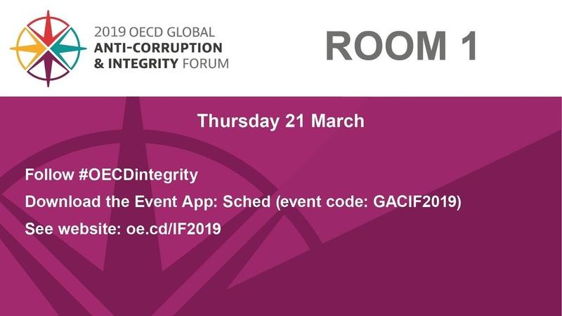 2019 OECD Global Anti-Corruption integrity Forum- Room 1