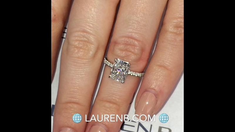 2.20 ct Radiant Cut Diamond Invisible Gallery Ring
