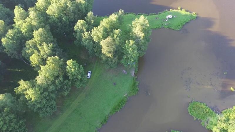 Исинский пруд с высоты