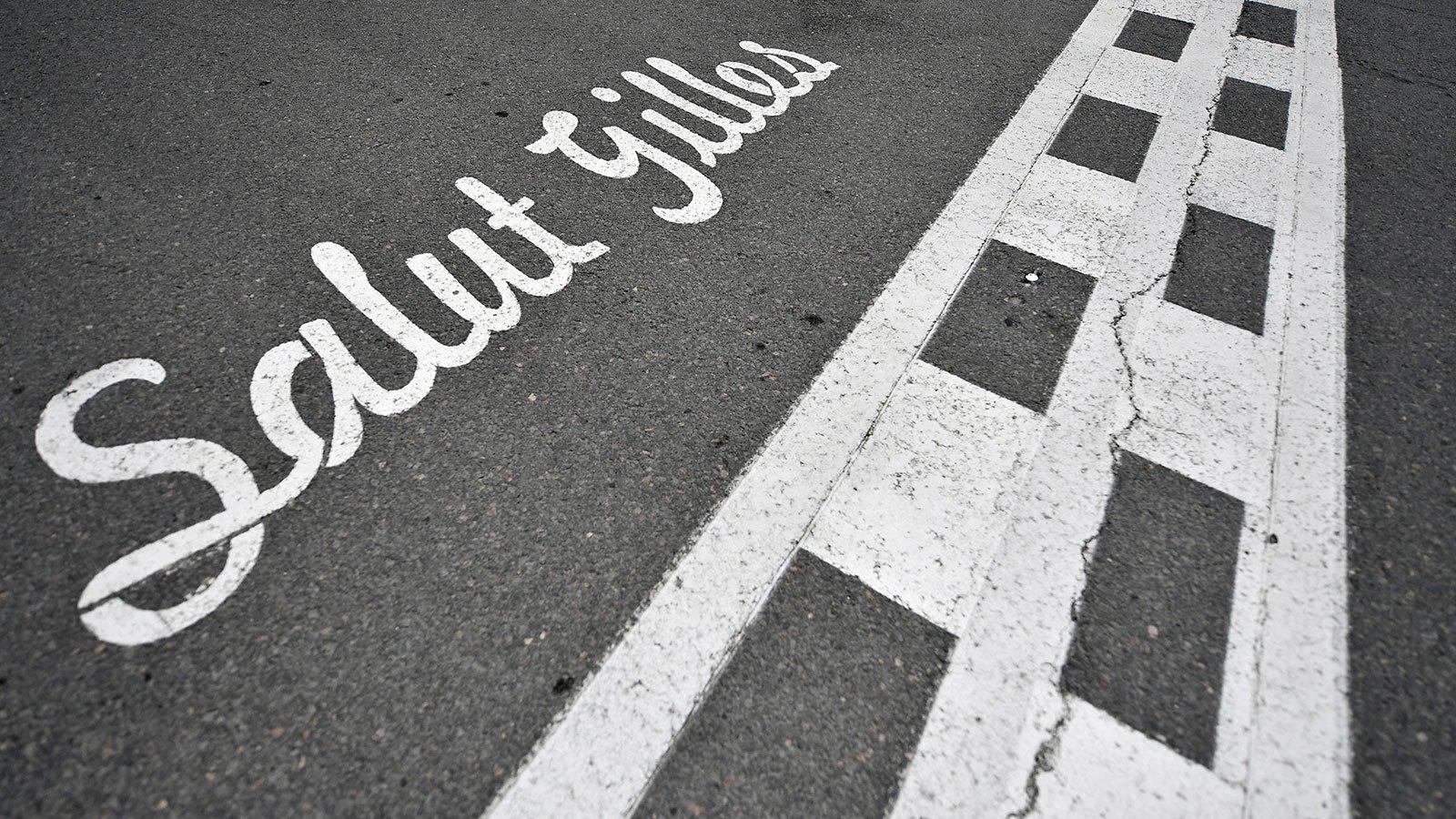Стартовая линия автодрома имени Жиля Вильнёва в Монреале