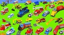 Fire Truck, Train, Excavator, Police Cars, Dump Trucks Tractor Construction Toy Vehicles for Kids