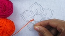 Hand Embroidery, Button Hole Stitch Flower, Easy Flower Embroidery