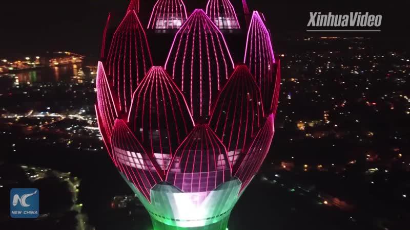 350-метровая Лотосовая Башня в Коломбо
