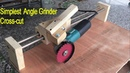 Amazing Simplest Angle Grinder Sliding Cross cutting linear Ball Bearing Guide Making Miter T Track