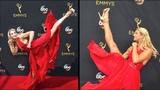 American Ninja Warrior star Jessie Graff kicks her way down the Emmys red carpet