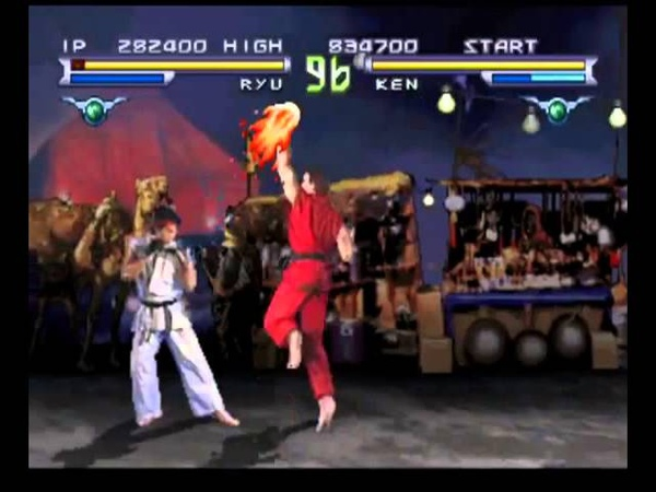 Street Fighter The Movie (PlayStation) Street Battle as Ryu
