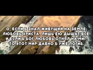 Клип - песня ЛЮБОВЬ ХРИСТА - Михаил Кабушко   Песнь Возрождения 783   Молодежные песни