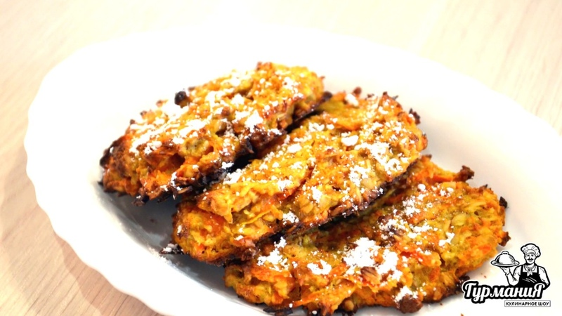 Самые вкусные овсяные печенья с морковью и медом. Диетический перекус.