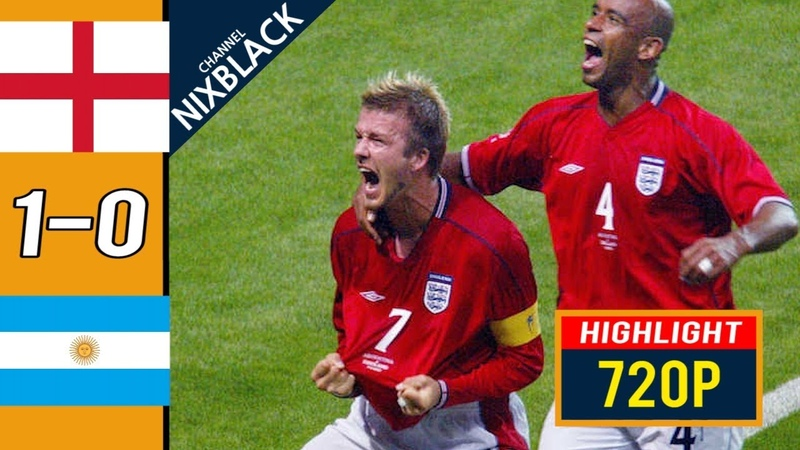 England 1-0 Argentina 2002 W.C All goals Highlights FHD/1080P