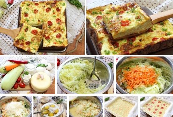 Кабачковый пирог-запеканка с сыром